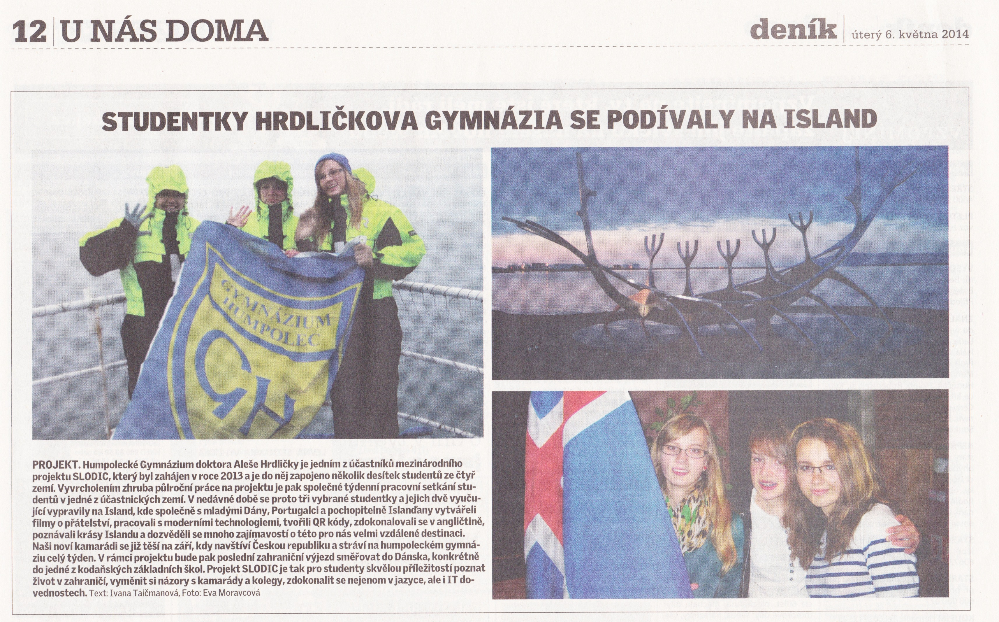2014 05 slodic in newspaper